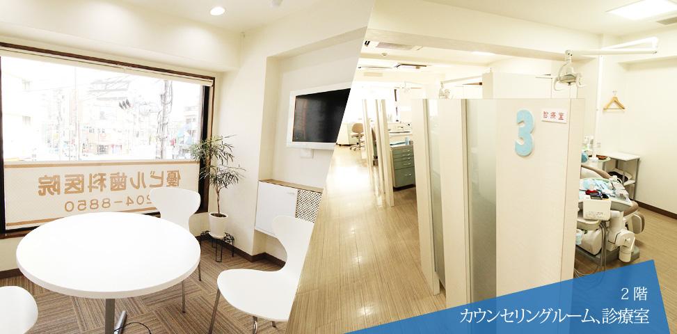 2階 カウンセリングルーム、診療室